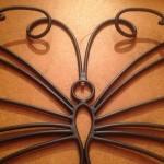 """Appendiabiti a muro """"Farfalla"""" - dettaglio"""