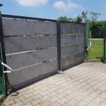 cancello-carraio-due-ante-battenti-certificato-ferro-grezzo-doghe-alte-orizzontali-moderno-design-azzate-varese-1a