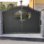 cancello-carraio-due-ante-battenti-certificato-lamiera-ferro-battuto-verniciato-elegante-personalizzato-unico-design-azzate-varese-2c