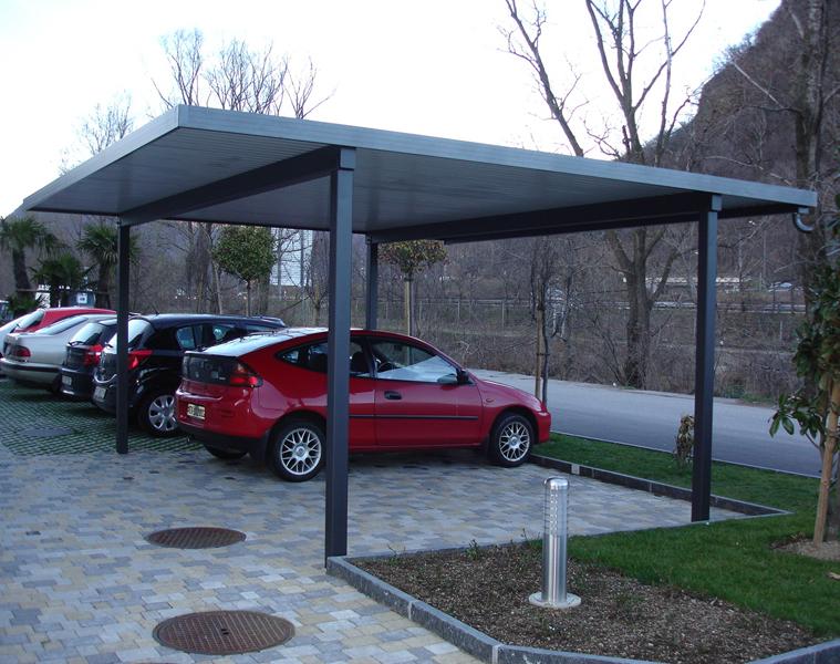 come realizzare un posto auto coperto con copertura in