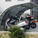 ciclopark-tettoia-copertura-posto-bici-moto-motocicli-plexiglas-compatto-certificata-tuv-carico-neve-design-azzate-varese-2a